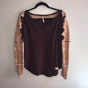 Free People Aztec Print Sweater Size Medium